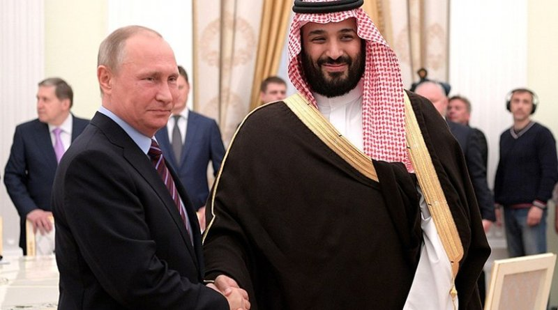 Russia's President Vladimir Putin meets Deputy Crown Prince and Defence Minister of Saudi Arabia Mohammad bin Salman Al Saud. Photo Credit: Kremlin.ru