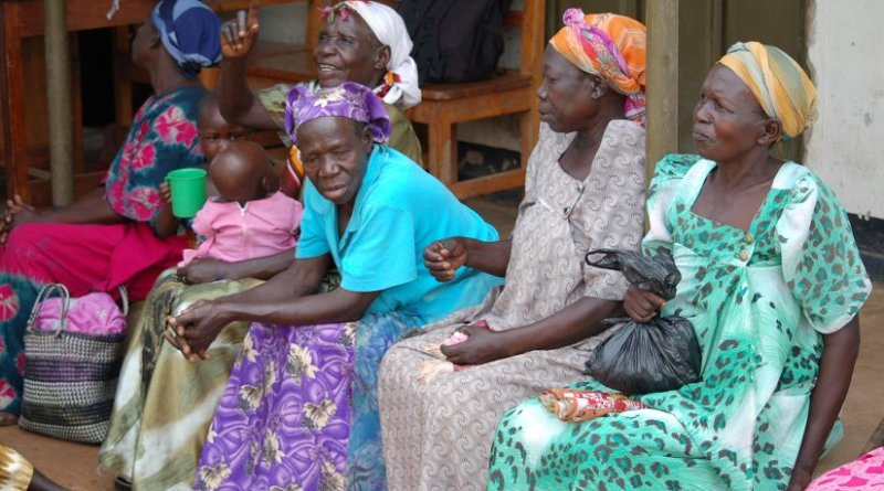 Ugandan women in a savings group are pictured. Credit Cameron Breslin