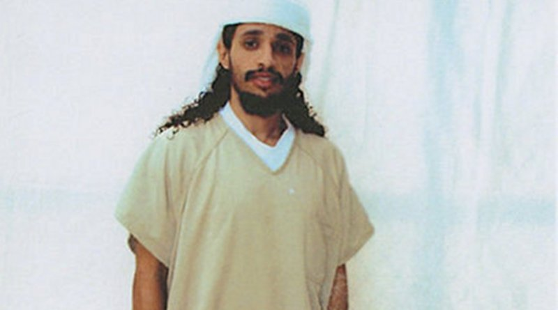 Ahmed Abdul Qader, photographed at Guantanamo in 2009 or 2010 by representatives of the International Committee of the Red Cross, and made available to his family, who made it publicly available via his lawyers.