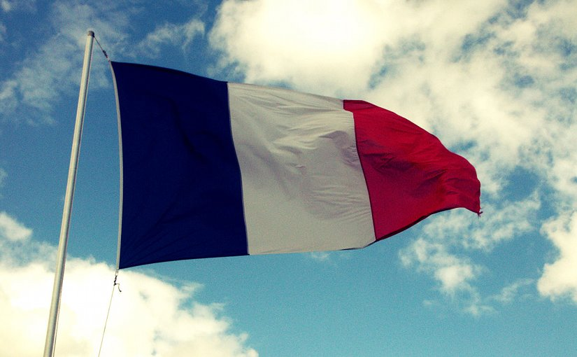 France's flag. Photo by Mith, Wikimedia Commons.