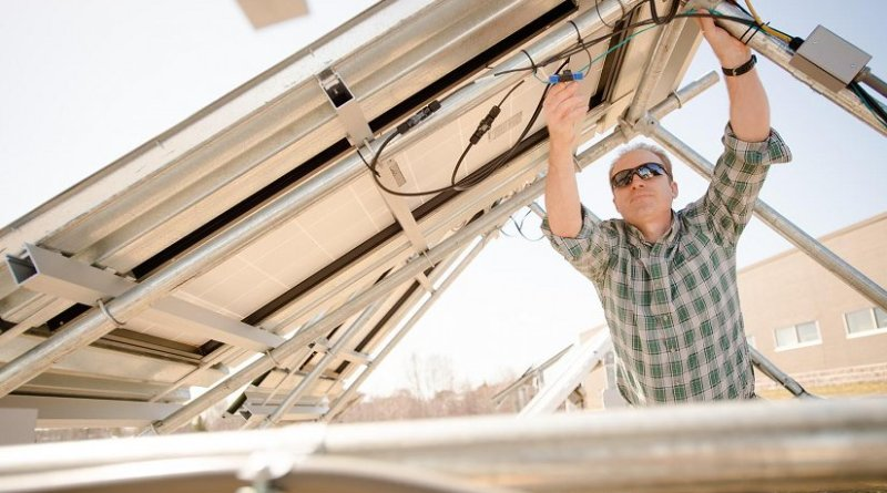 Solar technology could help make the power grid more resilient to attacks and natural disasters. Many military bases are located in regions with a history of power outages; microgrids could serve as back-ups to prevent service disruption during natural disasters and attacks. Credit Sarah Bird, Michigan Tech