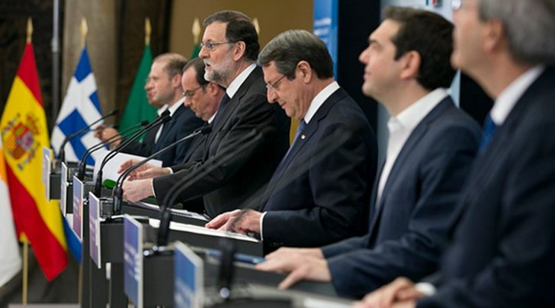 Press conference during the 3rd Southern EU Countries Summit, in Madrid on 10 April. Photo: La Moncloa (CC BY-NC-ND 2.0)
