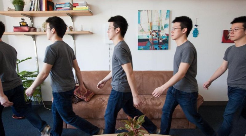 WiGait uses wireless signals to continuously measure a person's walking speed. Credit Jason Dorfman, MIT CSAIL