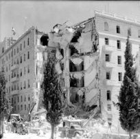 Results of Lehi bombing of King David Hotel, which killed nearly 100 Britons, Arabs and Jews, including Holocaust survivors.