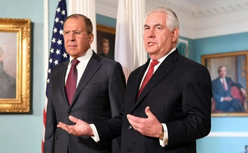 US State Secretary Rex Tillerson met with Russian Foreign Minister Sergey Lavrov. Photo Credit: US State Department.