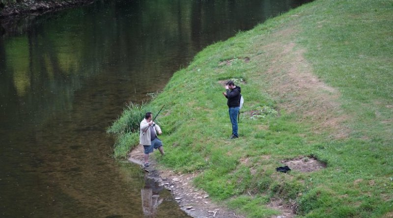 Men fishing in France.