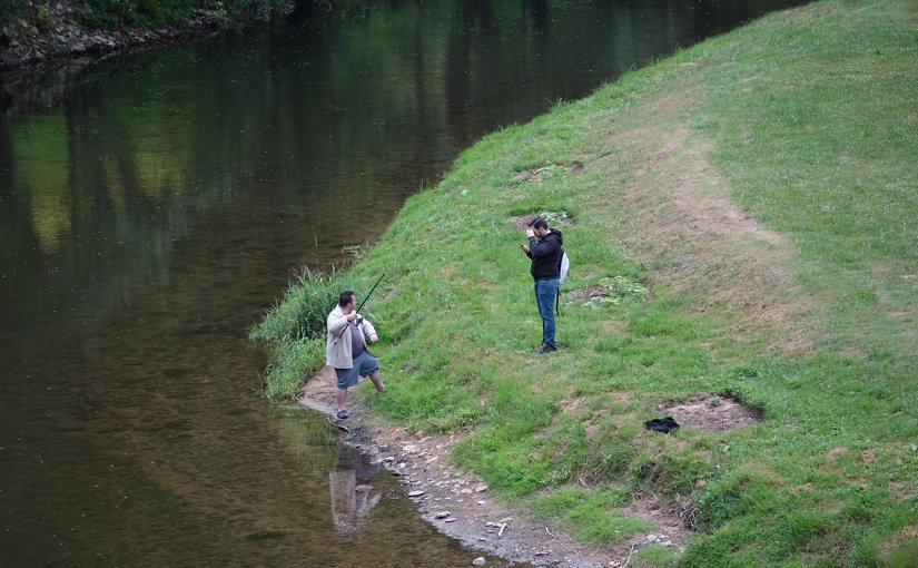 Men fishing in France.