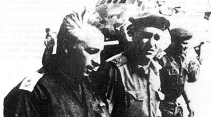 """Major-General Ariel Sharon during the Battle of Abu-Ageila. Taken from """"Key to the Sinai, The Battles for Abu-Ageila in the 1956 and 1967 Arab-Israeli Wars"""" In: Combat Studies Institute, Research Survey no.7 by G.W. Gawrych. Wikipedia Commons."""
