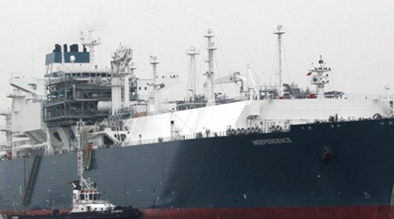 Main vessel of the Klaipėda Liquefied Natural Gas terminal (Source: MasiulisJonas1/WikiMedia Commons)