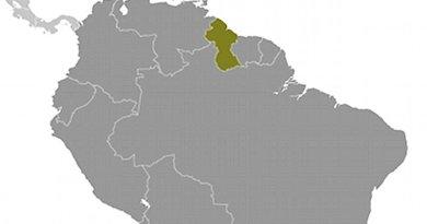 Location of Guyana. Source: CIA World Factbook