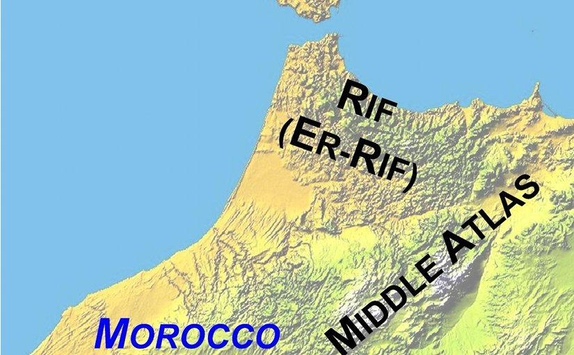Location of Rif region in Morocco. Credit: Wikipedia Commons.