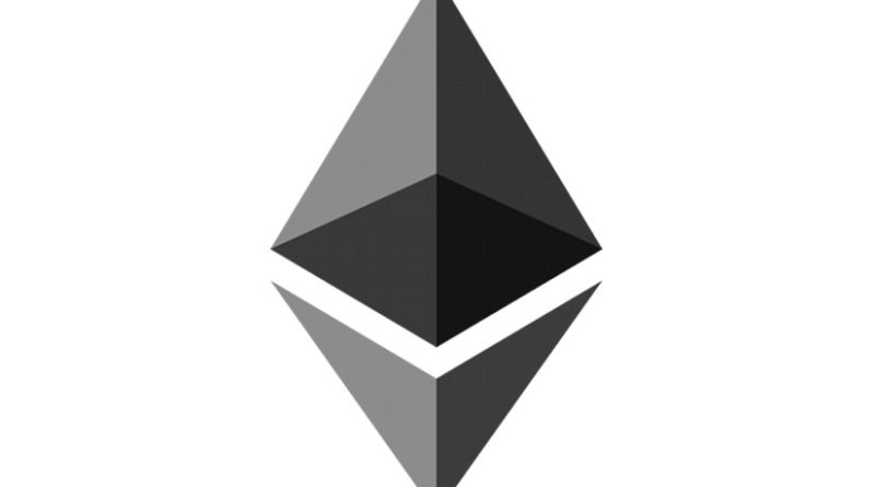 The Ethereum logo.