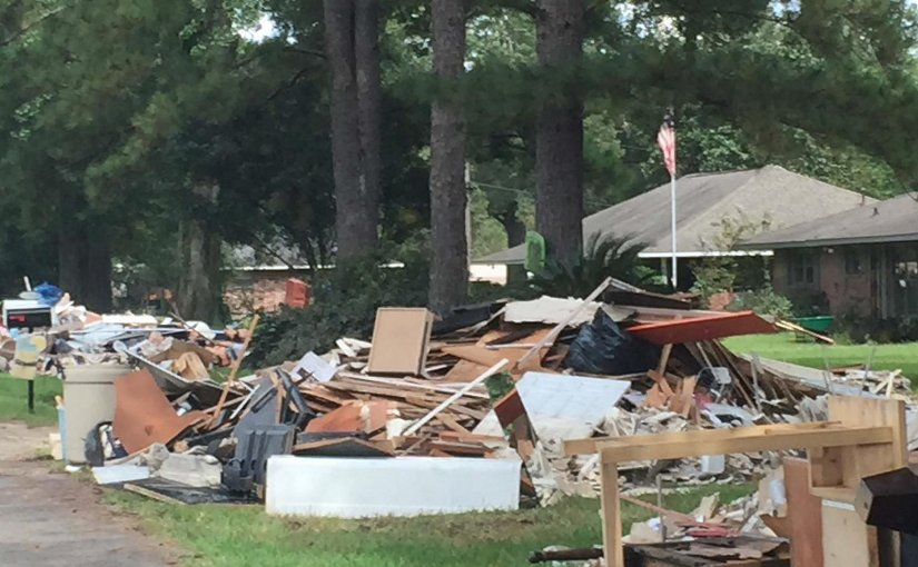 Thousands of homes were devastated by flooding in inland communities in Louisiana in August 2016. Credit Nina Lam, LSU