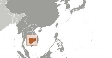Location of Cambodia. Source: CIA World Factbook.