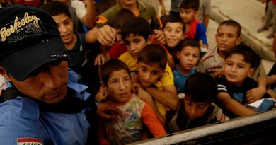 Schoolchildren in Mosul, Iraq. Photo by U.S. Air Force, Wikimedia Commons.
