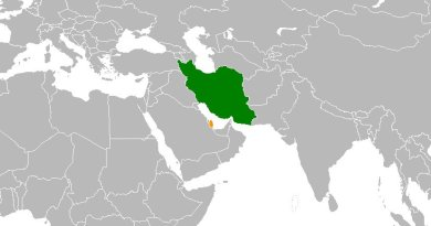Locations of Iran and Qatar. Source: Wikipedia Commons.