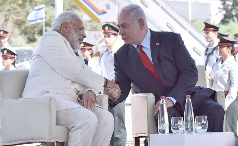 India's Prime Minister Narendra Modi and Israel's Prime Minister Benjamin Netanyaho. Photo Credit: India PM Office.