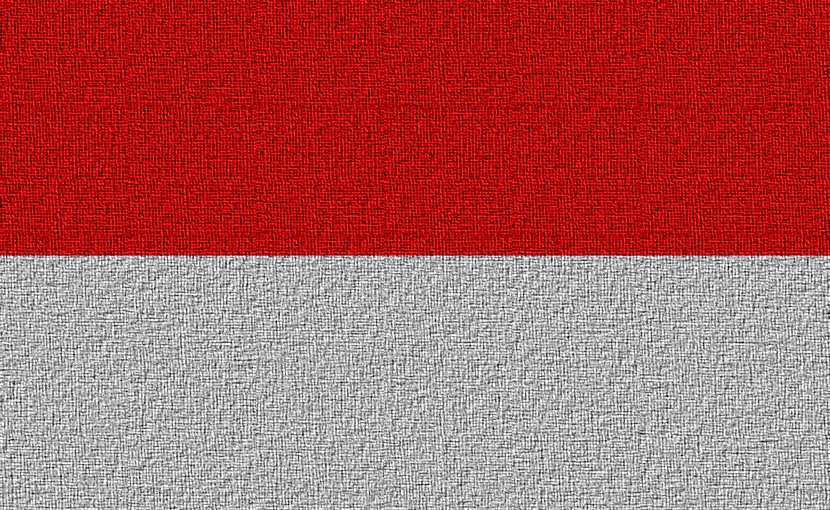 Flag of Indonesia.