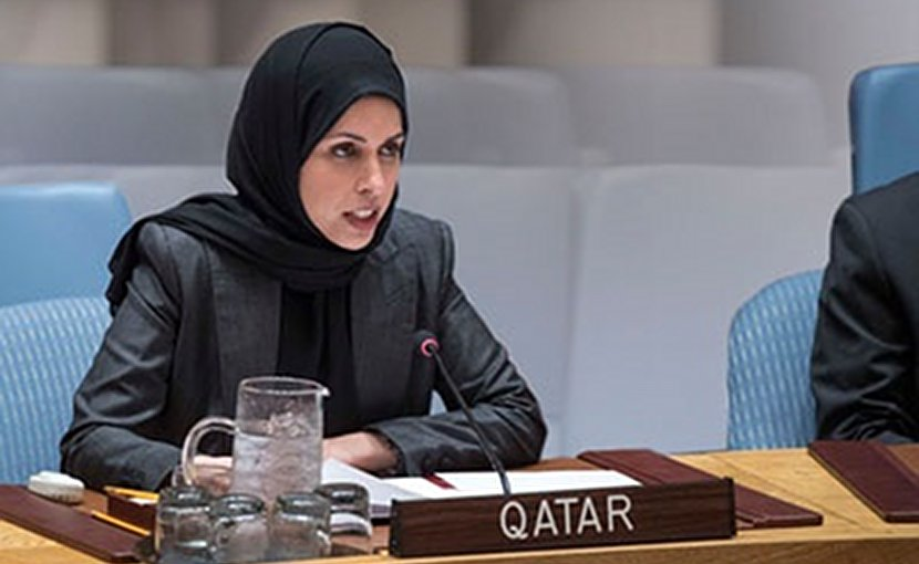 Permanent Representative of the State of Qatar to the United Nations, HE Ambassador Sheikha Alia Ahmed bin Saif Al-Thani. Source: Qatar Foreign Ministry.