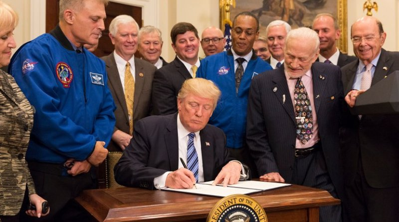 President Trump issues Executive Order on Reviving the National Space Council. Photo Credit: White House.