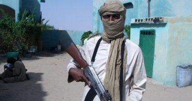 Al-Qaeda militant in Sahel. Photo Credit: Magharebia, Wikipedia Commons.
