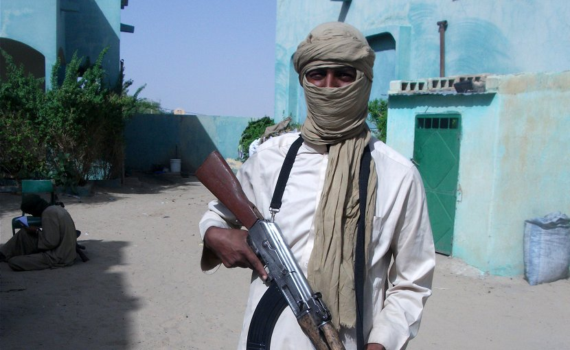 Al-Qaeda militant in Sahel. Photo Credit: Magharebia, Wikipedia Commons.