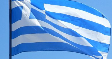 Greece's flag.