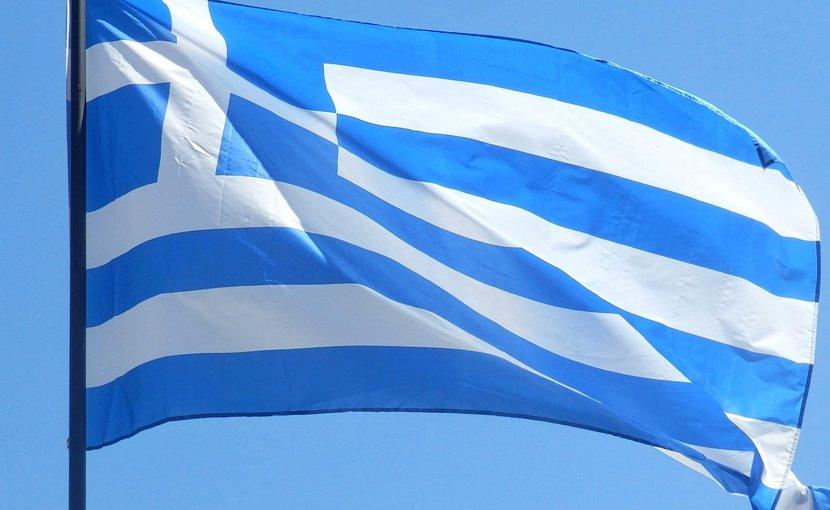 Greece's flag.