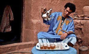 Morocco mint tea-drinking ceremony
