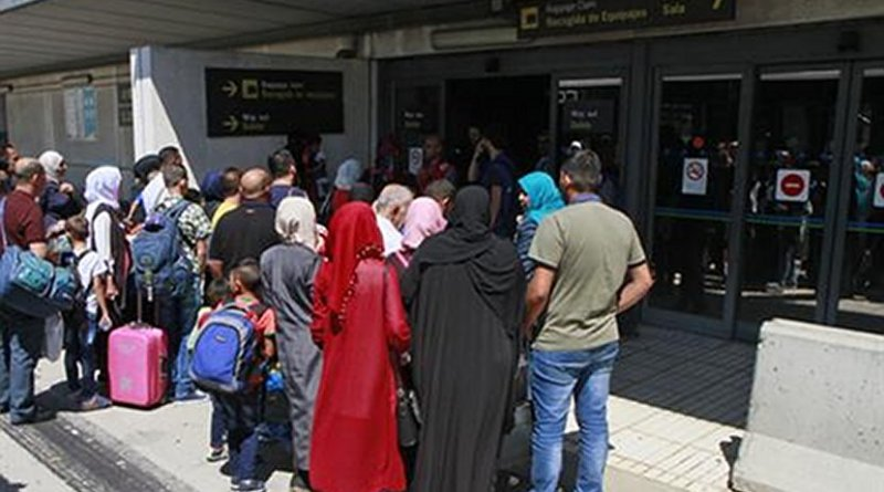 Spain recieves refugees from Syria. Photo Credit: Ministerio del Interior.