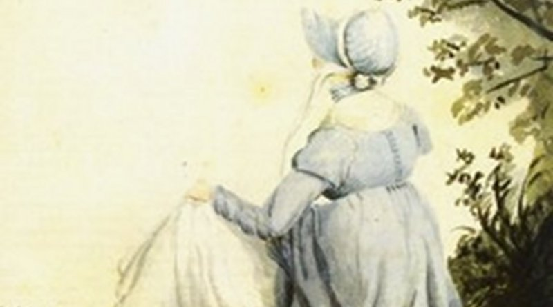 Watercolour of Jane Austen by her sister, Cassandra, 1804. Source: Wikipedia Commons.