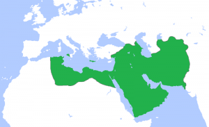 Map of the Abbasid Caliphate at its greatest extent, c. 850. Source: Wikipedia Commons.