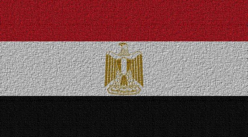 Flag of Egypt.