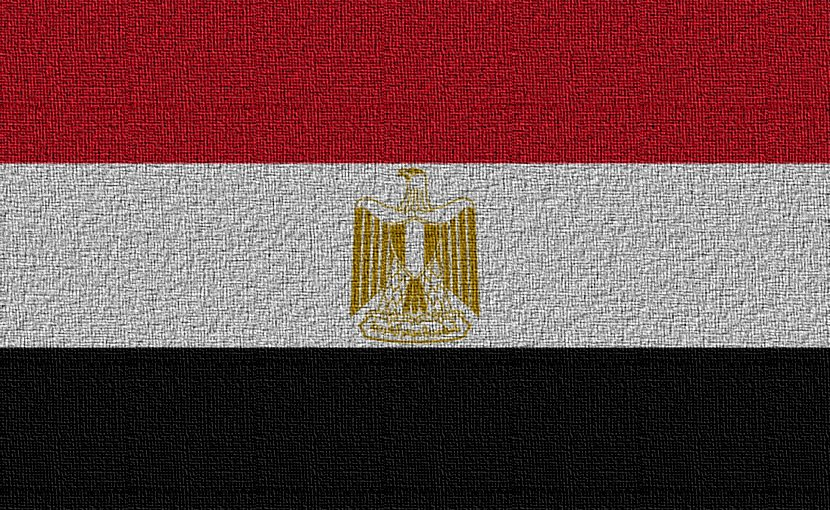 Flag of Egypt.