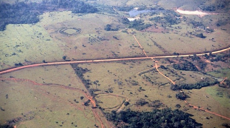 Sá and Seu Chiquinho sites featuring circular, square, and U-shaped earthworks. Credit Photographer: Sanna Saunaluoma
