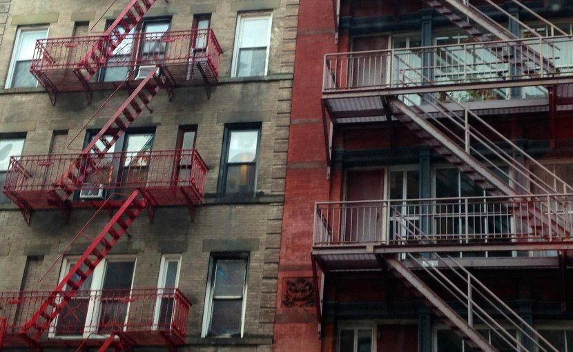 Apartment building in New York.
