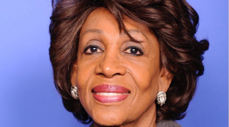 "Maxine Waters. Source:"" House of Representatives photographic studio, Wikipedia Commons."