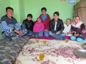 Ghulam ( fourth from left ) with his siblings and Ali ( fifth from left )