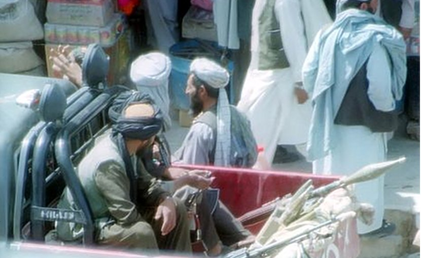 Taliban in Herat. Photo by bluuurgh, Wikipedia Commons.