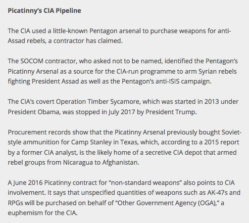 Picatinny's CIA Pipeline
