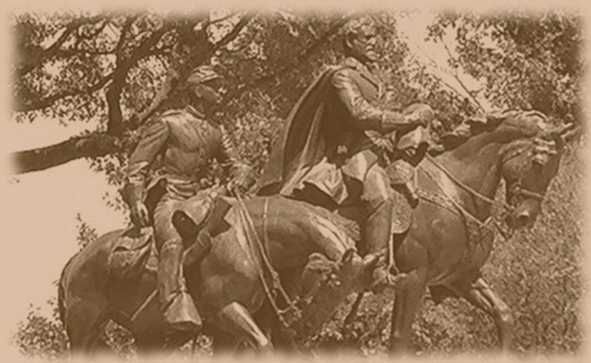 Robert E. Lee statue in Dallas, Texas.