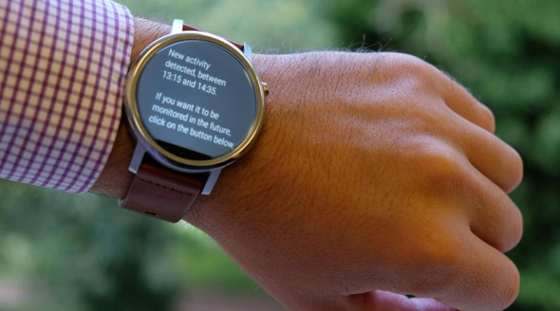 A new algorithm invented at the University of Sussex enables smartwatches to learn your everyday activities. Credit Hristijan Gjoreski / University of Sussex