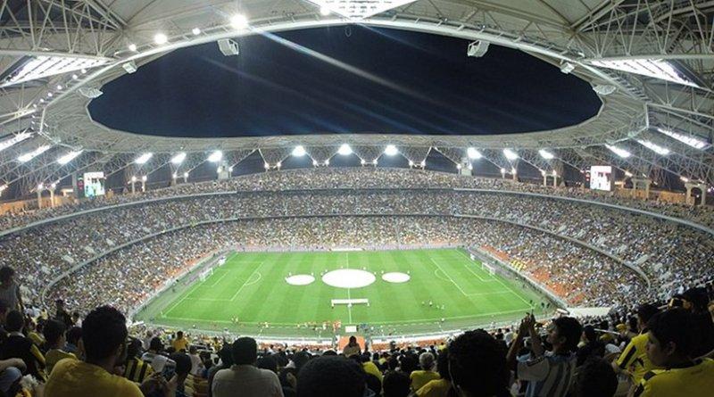 File photo of King Abdullah Sports City in Jeddah, Saudi Arabia. Photo by Manaf228, Wikipedia Commons.