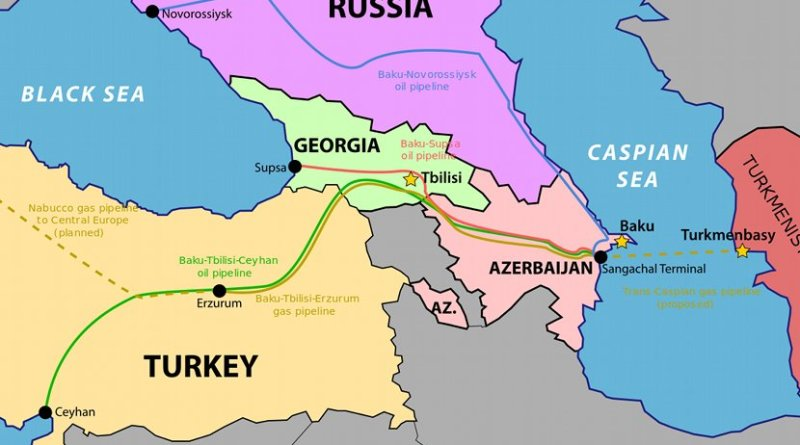 South Caucasus Pipeline. Source: WIkipedia Commons.
