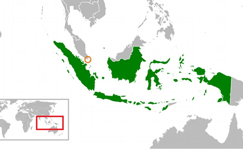 Locations of Indonesia and Singapore. Source: Wikipedia Commons.