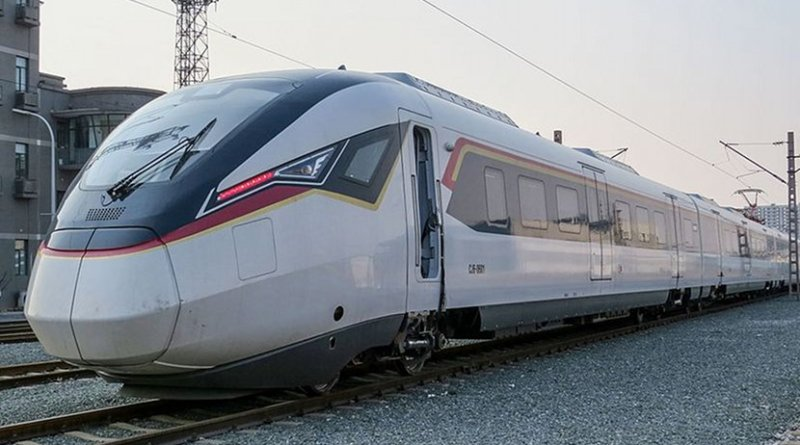 CRRC Zhuzhou CJ6-type EMU proposed for inter-city rail passenger services. Photo by N509FZ, Wikipedia Commons.