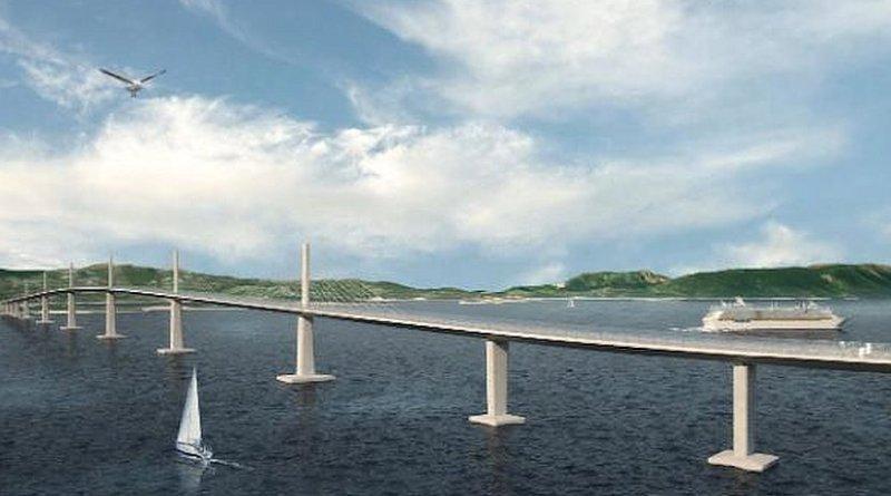 Artist rendition of Pelješac bridge in Croatia. Credit: EU Commission.