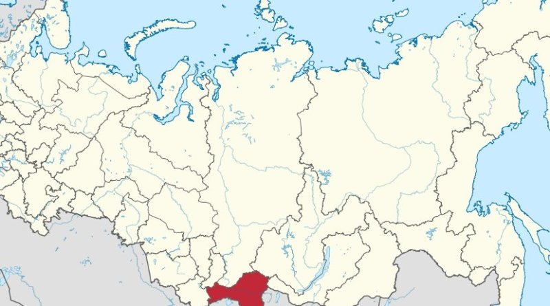 Location of Tuva in Russia. Source: Wikipedia Commons.