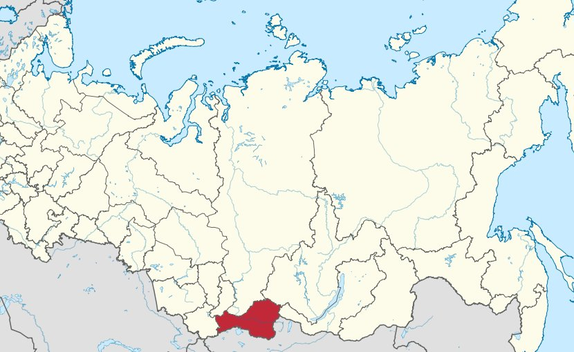 Location of Tuva in Russia. Source: Wikipedia Commons.