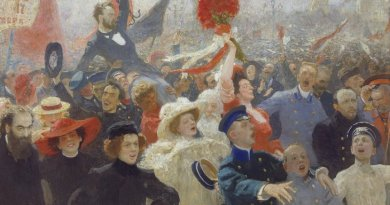 "Ilya Repin, ""17 October 1905."" Credit Ilya Repin/Wikimedia Commons"